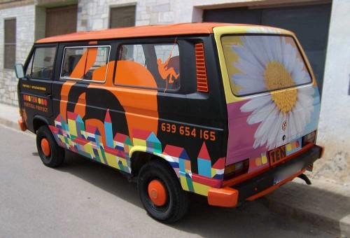 Camioneta multicolor