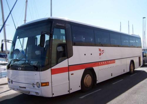 Ploteo integral autobuses equipo Luna Rossa